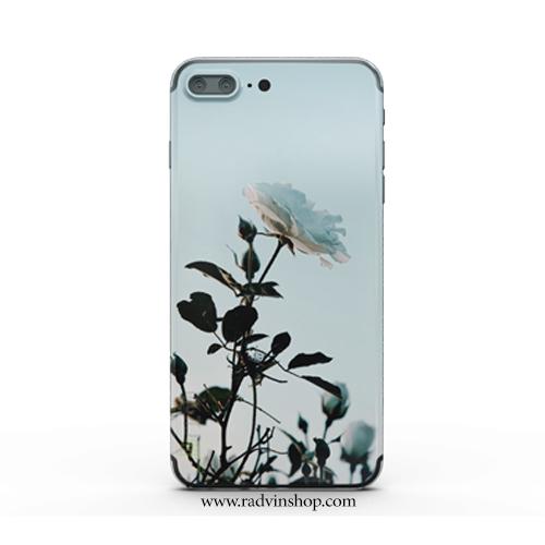 قاب موبایل طرح گل رز سفید