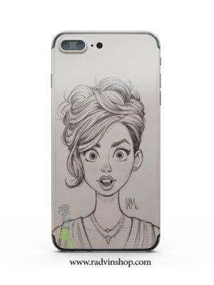 قاب موبایل نقاشی دخترونه کد 43